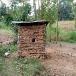 The Water Project: Buhayi Community, Nasichundukha Spring -  Latrine