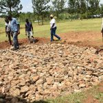 The Water Project: Mabanga Primary School -  Tank Foundation