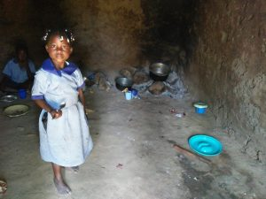 The Water Project:  Little Girl In The School Kitchen