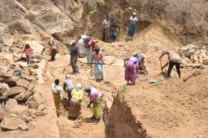 The Water Project:  Sand Dam Trenching