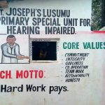 The Water Project: St. Joseph's Lusumu Primary School -  Security Entrance