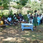 The Water Project: Bukhakunga Community, Khayati Spring -  Training Turnout Once Lonita Helped Gather Everyone