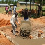 The Water Project: Shikusa Primary School -  Latrine Construction