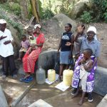 The Water Project: Bukhakunga Community, Khayati Spring -  Water Flowing
