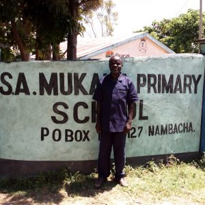 The Water Project:  Staff At School Gate