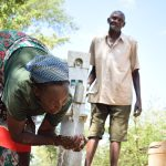 The Water Project: Kivani Community C -  Water Flowing