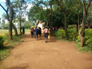 The Water Project:  Carrying Some Water To School Kitchen