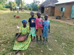 The Water Project:  A Grandmother And Her Grandchildren