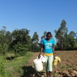 The Water Project: Bungaya Community, Charles Khainga Spring -  Going To Fetch Water