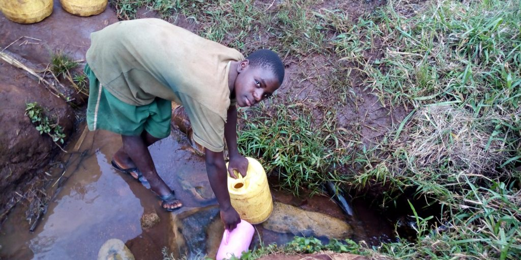 The Water Project : 5-kenya19144-fetching-water