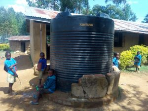 The Water Project:  Plastic Tank The School Recently Bought