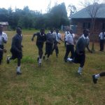 The Water Project: Ebulonga Mixed Secondary School -  Students Rushing Back To Class