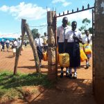The Water Project: Ikumba Secondary School -  Going To Fetch Water