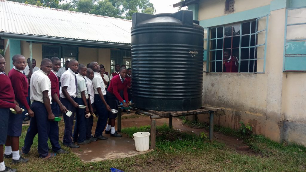 The Water Project : 7-kenya19068-plastic-tank-that-runs-dry