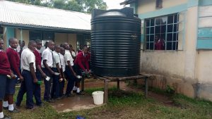 The Water Project:  Plastic Tank That Runs Dry