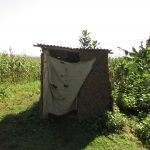 The Water Project: Shihingo Community, Inzuka Spring -  Latrine