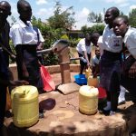The Water Project: Bululwe Secondary School -  Fetching Water