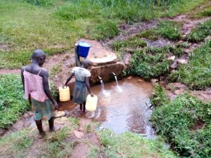 The Water Project:  Getting Water From The Community Spring