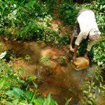 The Water Project: Kapsambo Community, Muhingi Spring -  Fetching Water