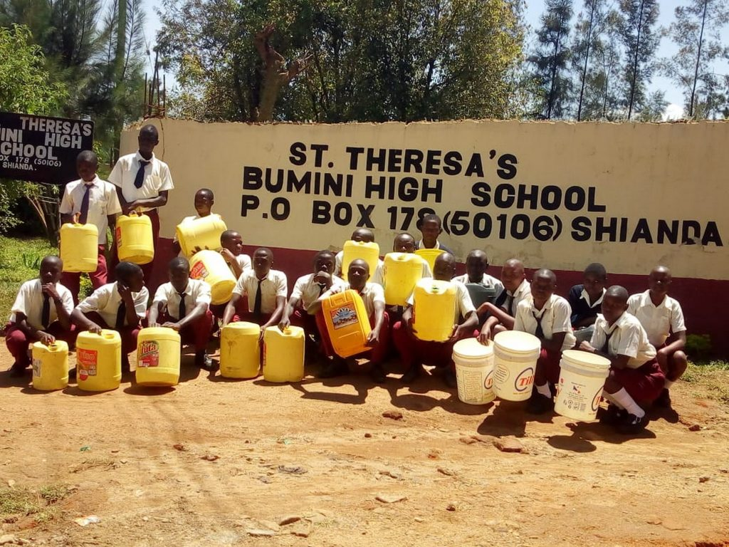 The Water Project : 9-kenya19037-students-with-their-jerrycans