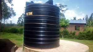 The Water Project:  The Plastic Tank That Often Runs Dry