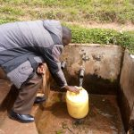 The Water Project: Banja Primary School -  Community Spring Where Students Fetch Water Between Class