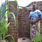The Water Project: Kangalu Community -  Inside Latrine