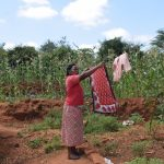 The Water Project: Kangalu Community A -  Hanging Clothes