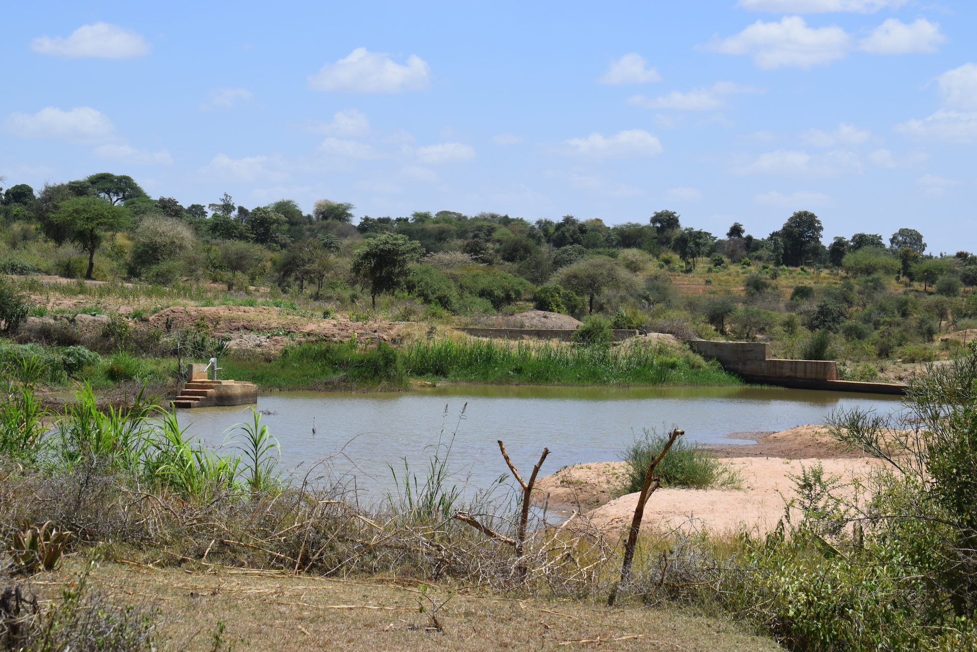 The Water Project : kenya4863-well-and-dam