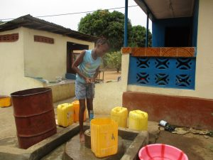 The Water Project:  Fetching Water With Makeshift Pump