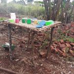 The Water Project: Nyakasenyi Byebega Community -  Dish Drying Rack