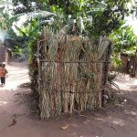 The Water Project: Kimigi Kyamatama Community -  Bathing Shelter