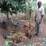 The Water Project: Kimigi Kyamatama Community -  Busingye At His Refuse Pit