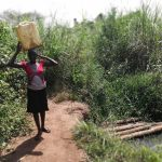 The Water Project: Kimigi Kyamatama Community -  Carrying Water