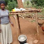 The Water Project: Kikube Nyabubale Community -  Dishrack And Chickens