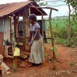 The Water Project: Kikube Nyabubale Community -  Latrine And Handwashing Station