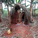 The Water Project: Kikube Nyabubale Community -  Latrine And Jug For Handwashing