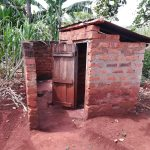 The Water Project: Kikube Nyabubale Community -  Latrine