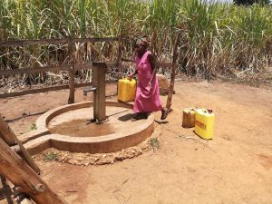The Water Project:  At Protected Well Away
