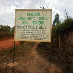 The Water Project: Kimangeti Girls' Secondary School -  School Sign