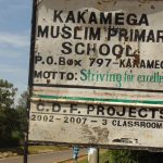 The Water Project: Kakamega Muslim Primary School -  Road Sign