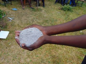The Water Project:  Ash To Pour Down The Latrine Pits