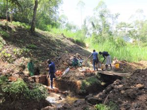 The Water Project:  Spring Construction