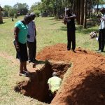 The Water Project: Khabukoshe Primary School -  Sinking The Latrine Pit