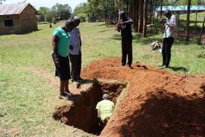 The Water Project:  Sinking The Latrine Pit