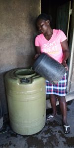 The Water Project:  Water Storage In School Kitchen