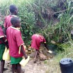 The Water Project: Nanganda Primary School -  Unprotected Spring