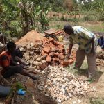 The Water Project: Emulakha Community, Nalianya Spring -  Breaking Up Stones For Construction