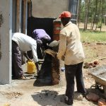 The Water Project: Khabukoshe Primary School -  Latrine Construction