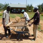 The Water Project: Namasanda Secondary School -  Sifting Sand For Cement